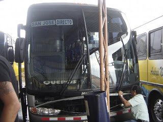 Costa Rica bus, where you need to take extra precautions to avoid theft in Costa Rica