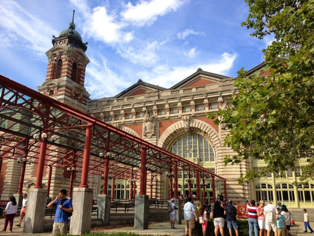 A building on Ellis Island in New York, an option for exploring New York with a toddler