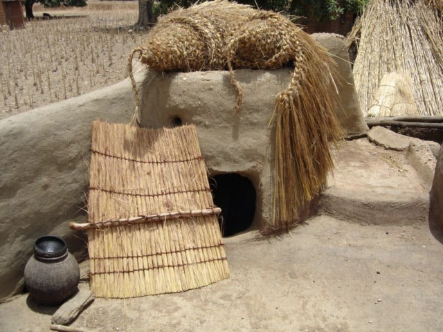 Sleeping quarters in a tata in the Tamberma Valley of Togo
