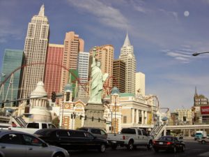 New York New York Hotel in Las Vegas, NV, a popular stop for a U.S. road trip