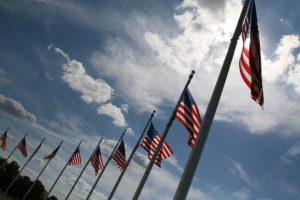 american flags in washington dc