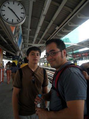 Taking public transporation in Bangkok (July 2012)