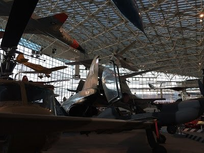 Airplanes at the Museum of Flight, one of many Seattle museums