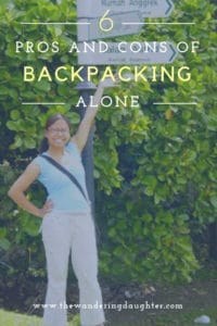Six Pros and Cons of Backpacking Alone   The Wandering Daughter