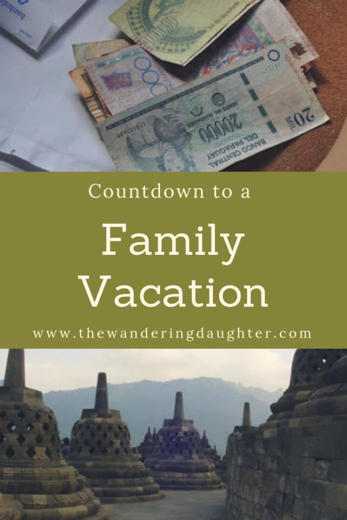 Countdown to a Family Vacation | The Wandering Daughter | Family travel planning tasks to complete to prepare for a family vacation.