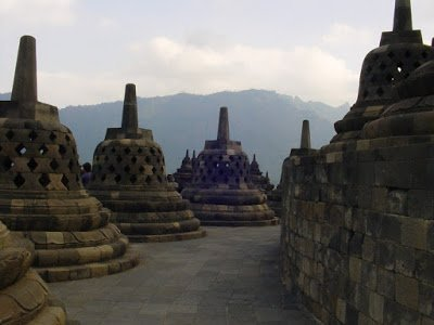 Borobudur Temple in Indonesia, a popular family vacation destination