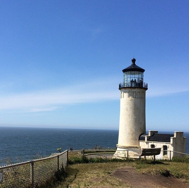 lighthouse at cape disappointment in washington state