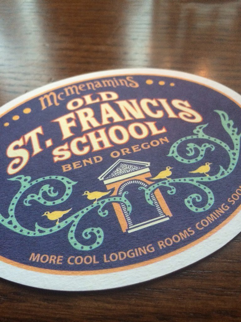 A coaster at McMenamin's Kennedy School, one of the fun things to do in Portland with kids