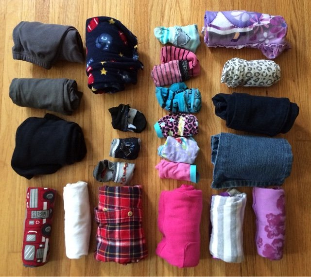 Kid clothes for a weekend road trip