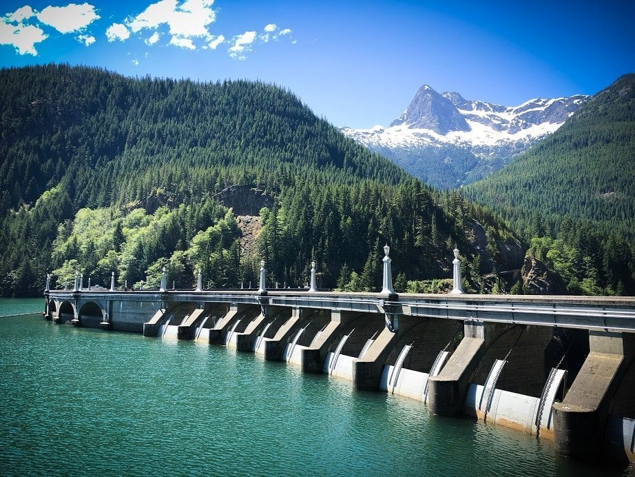 Diablo Dam at North Cascades National Park, one of the underrated national parks in the west
