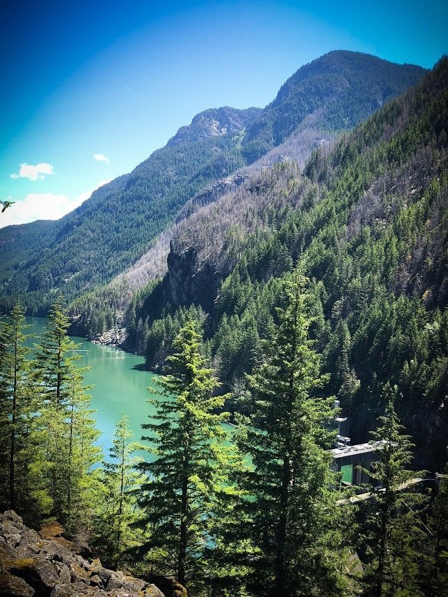 An overlook during hikes at North Cascades