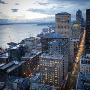 The view from Smith Tower, one of the activities in Seattle for families