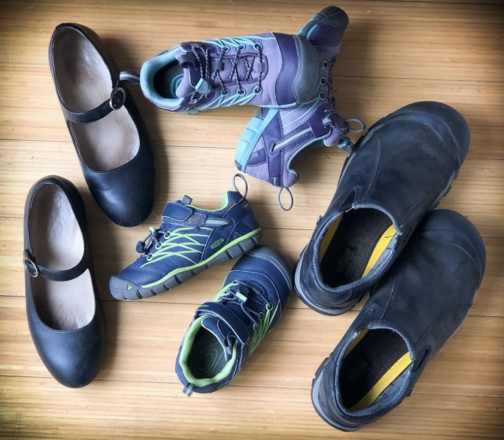 Shoes for use during a family gap year