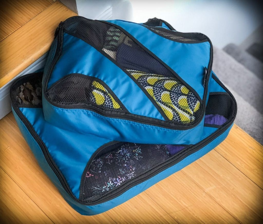 Packing cubes for minimalistic travel