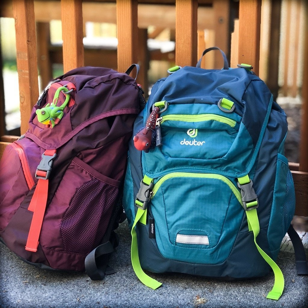 Kids backpacks for RTW family travel