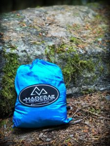 Madera hammocks packed up in their carrying case