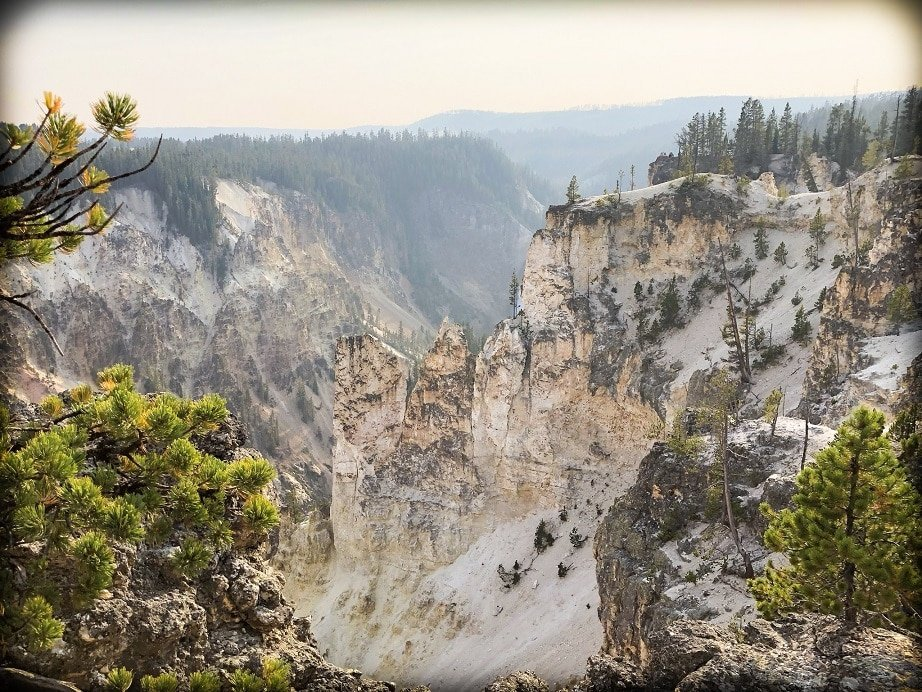 A canyon at Yellowstone National Park, one of the national parks in the west