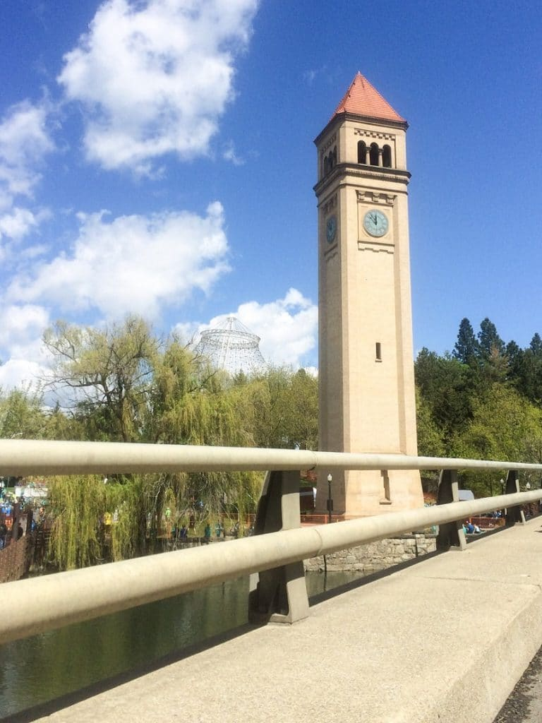 The Clock Tower at Riverfront Park, a park with many things to do in Spokane