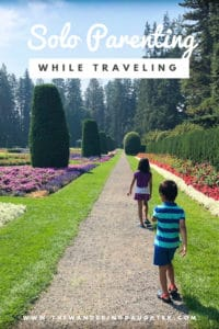 Solo parenting while traveling