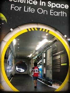 Space exhibit for family friendly Denver experiences at the Wings Over the Rockies museum