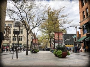 Walking along the 16th Street Mall for family friendly Denver experiences