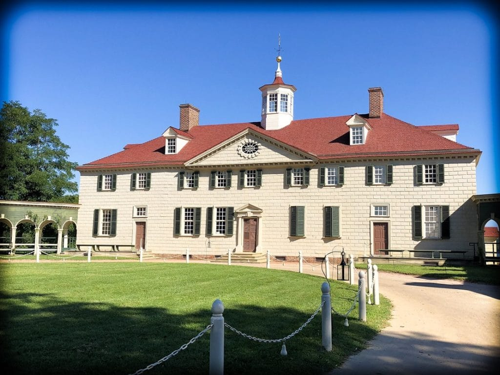 George Washington's home of Mount Vernon in Alexandria, Virginia, where families can do DC world schooling activities
