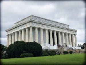 The Lincoln Memorial undergoing minor change and development