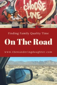 Finding family quality time on the road