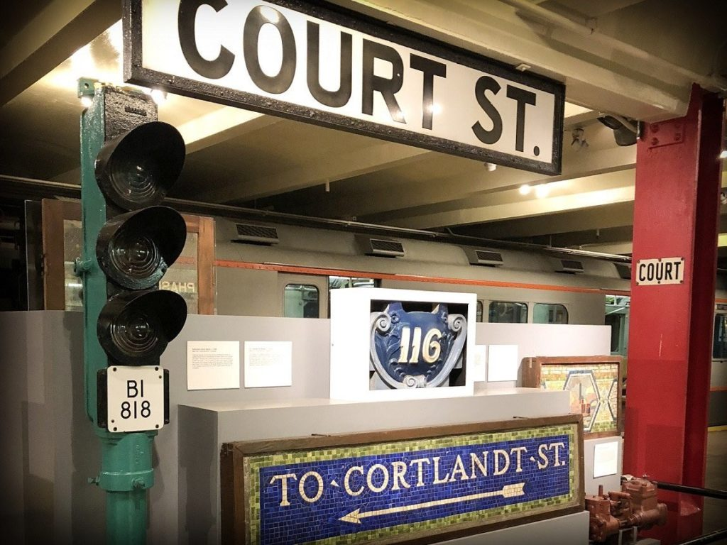 Artifacts at the New York Transit Museum, a family-friendly Brooklyn transit museum