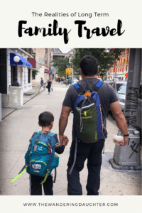 Realities of long term family travel