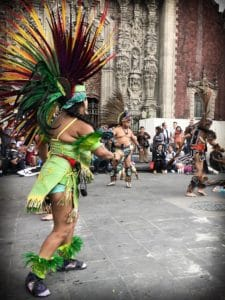 Aztec dancer in Mexico City to see when you travel more