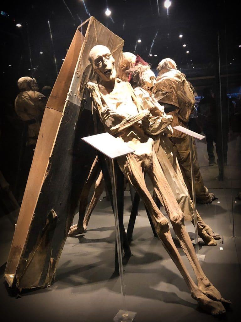 Mummies in Mexico at the Mueso de las Momias in Guanajuato