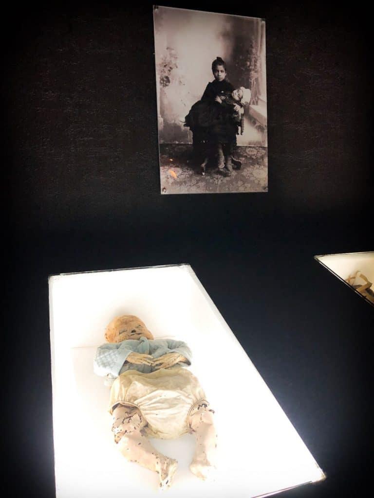 Baby mummies in Mexico at the Mueso de las Momias in Guanajuato