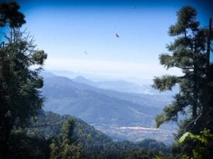 A view from the monarch butterfly sanctuary in Michoacan, Mexico