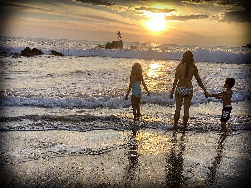Sunset at Puerto Escondido beaches