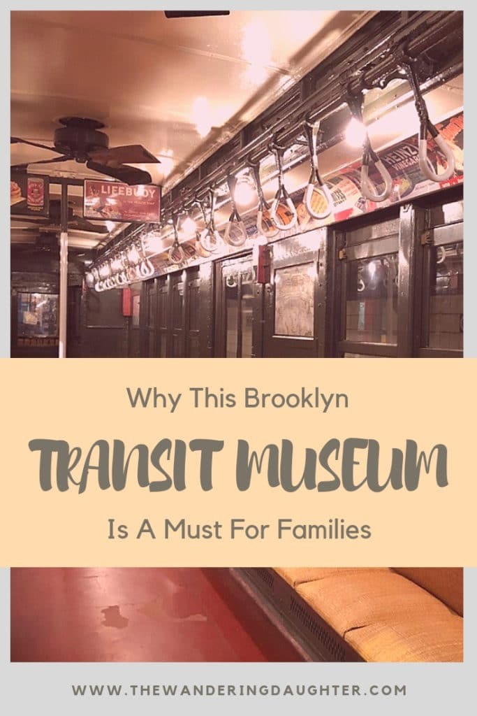 Why This Brooklyn Transit Museum Is A Must For Families   The Wandering Daughter    A trip to this Brooklyn transit museum, known as the New York Transit Museum, is a must for families interested in learning about the history of New York City's iconic subway system. #familytravel #NewYork #NewYorkCity #NYC #subway #transitmuseum #worldschooling