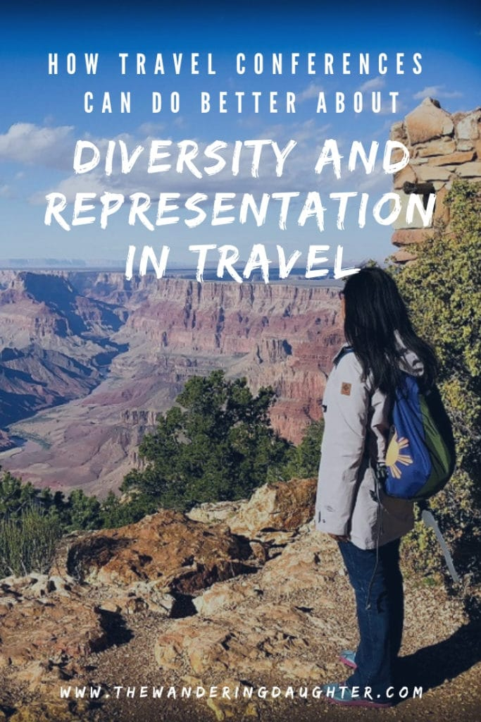 How Travel Conferences Can Do Better About Diversity And Representation In Travel   The Wandering Daughter   Ways the travel blog community and travel conferences can focus on improving diversity and representation in travel. Ways for promoting inclusion in travel blogging and travel conferences. #diversity #travelblog #travelconferences #representation #inclusion