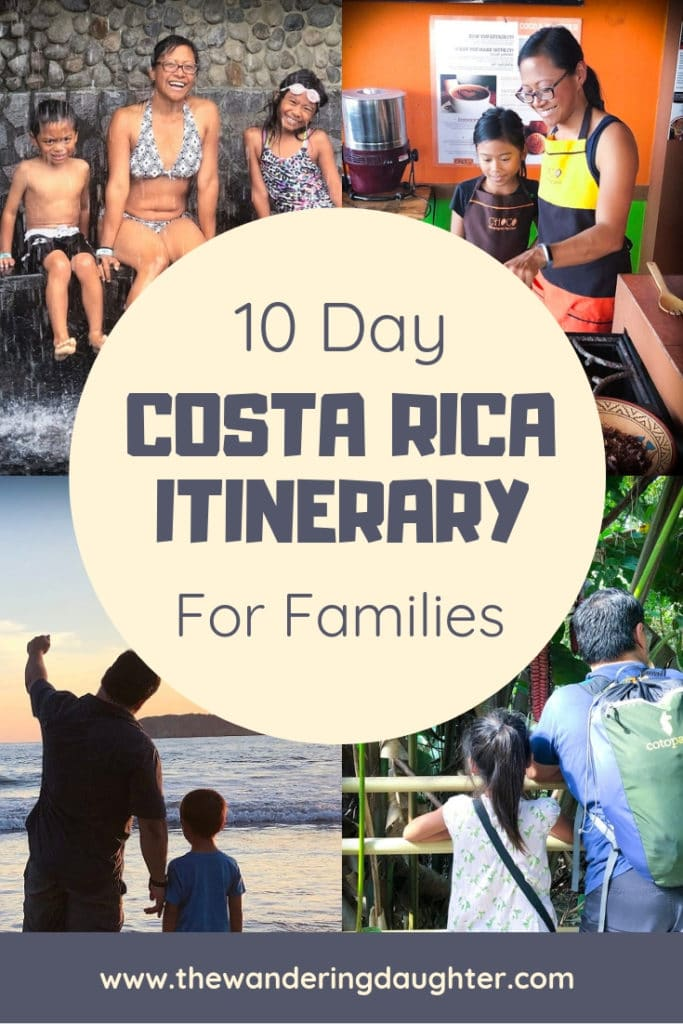 10 Day Costa Rica Itinerary For Families | The Wandering Daughter  Ideas for putting together a 10 day Costa Rica itinerary for kids. Tips for planning a trip to Costa Rica, and ideas for Costa Rica travel with kids. #CostaRica #CostaRicaitinerary #familytravel