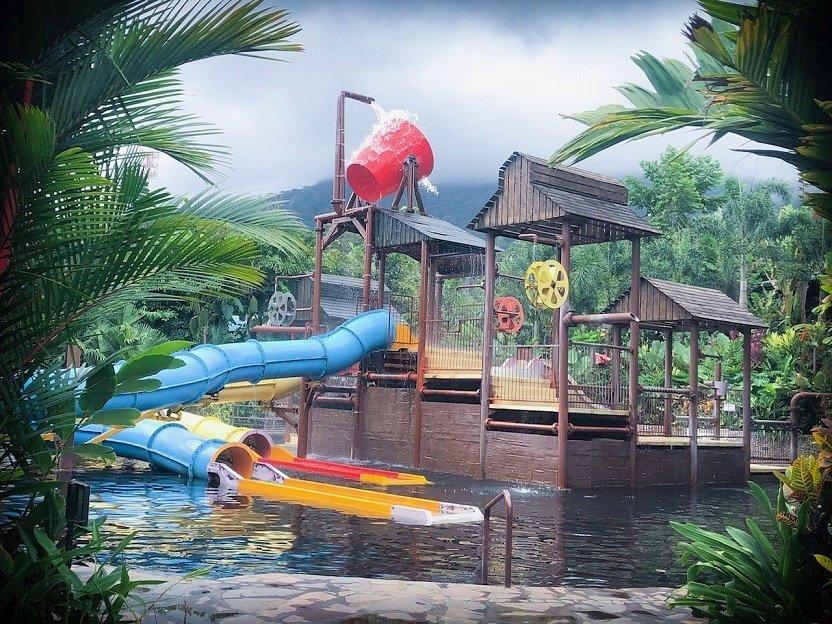 The splash tower at Kalambu Hot Springs
