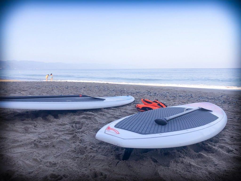 Beginner paddle board lessons with Xiutla Riders in Puerto Vallarta