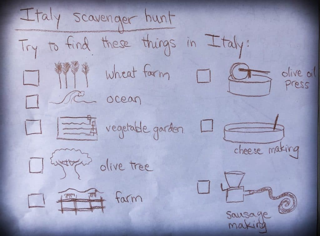 Using a scavenger hunt to incorporate worldschooling into travel