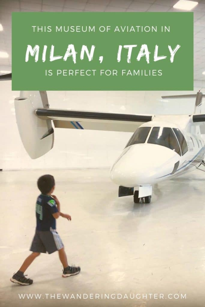 This Museum of Aviation inn Milan, Italy!   The Wandering Daughter    Why Volandia, the museum of aviation in Milan, Italy, is a great place for families to spend an afternoon while they are visiting Milan. #familytravel #Milan #airpolanes