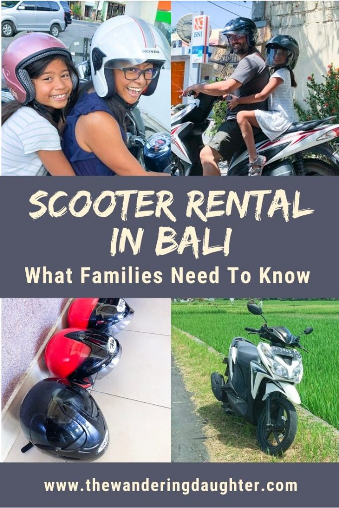 Scooter Rental In Bali: What Families Need To Know | The Wandering Daughter | Tips for families visiting Bali, Indonesia on how to do a scooter rental in Bali.