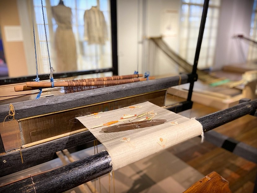 A weaving exhibit at the National Museum of Anthropology, where tourists can visit during one day in Manila