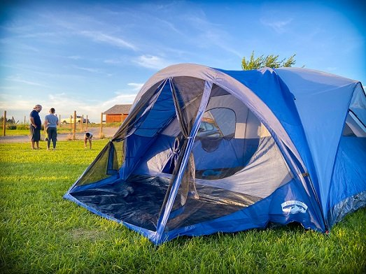 A tent, one of the most important car camping essentials