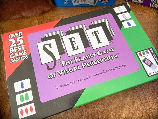 Travel card games for families: Set