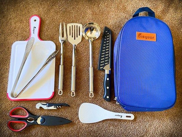 Kitchen utensils for car camping essentials