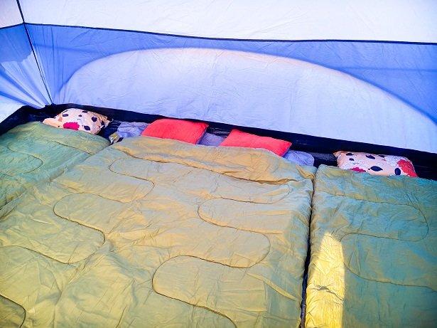 Warm sleeping bags car camping essentials